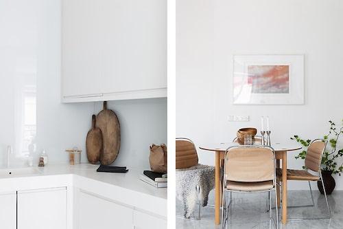 Enligt mäklaren har vindsvåningen har varit med i inredningsmagasinen Elle Decoration och Residence Magazine.