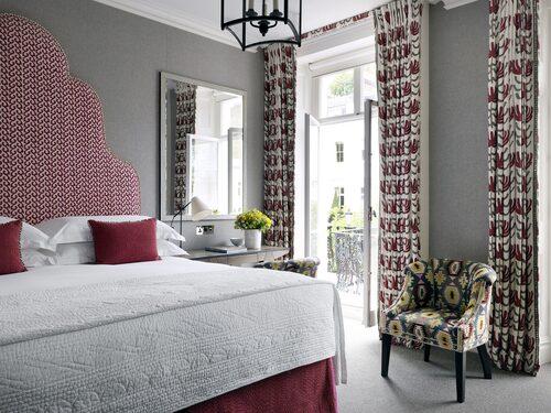 Personligt inredda rum på hotellet Number Sixteen i Kensington i London.