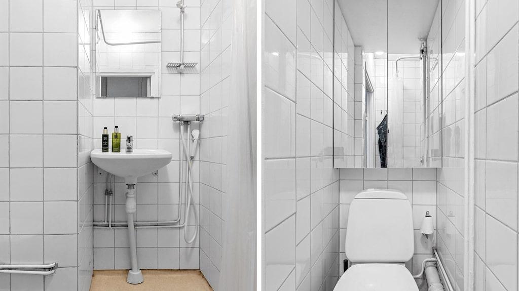 Och badrum med compact living-dusch.
