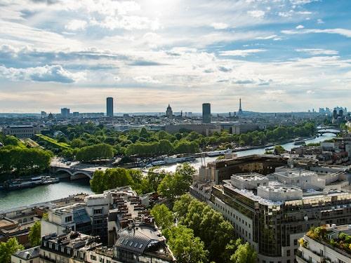 Fantastisk utsikt från hotellet Marriott Courtyard Gare de Lyon.