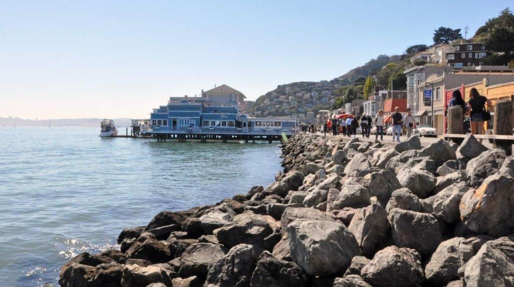 Sausalito påminner lite om en stad vid Medelhavet.
