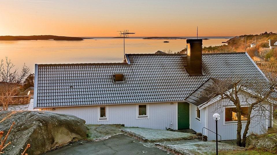 Utsikten från Henning Mankells villa är fantastisk.