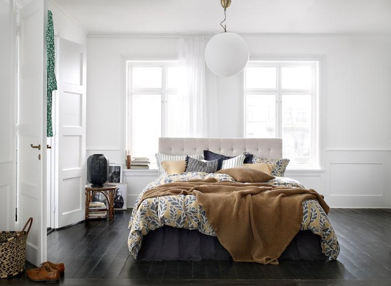Skönt att byta till nya sängkläder och kanske också sänggavel?