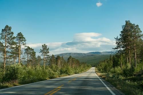 Silvervägen sträcker sig västerut, från Skellefteå till Bodö vid norska kusten.