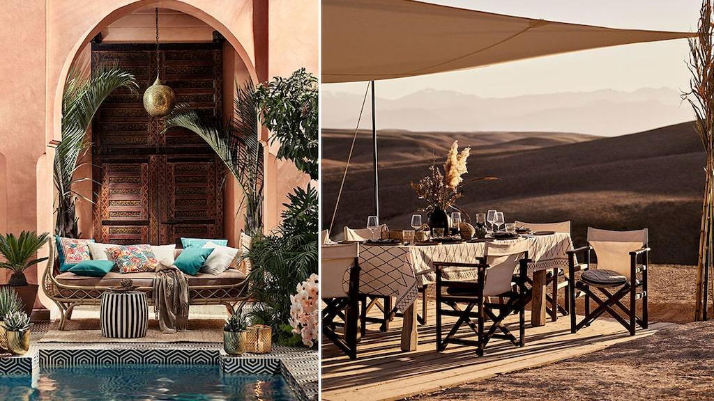 Kollektionen är inspirerad av det marockanska landskapet och arkitekturen i Marrakech.