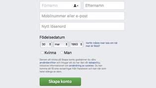 Brott pa facebook allt ansvar laggs pa anvandarna