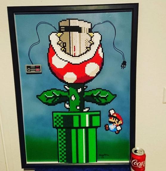 Här är det spelfiguren Maria Bros som har fått vara inspirationen.