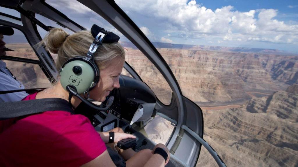 Helikopter i Grand Canyon.