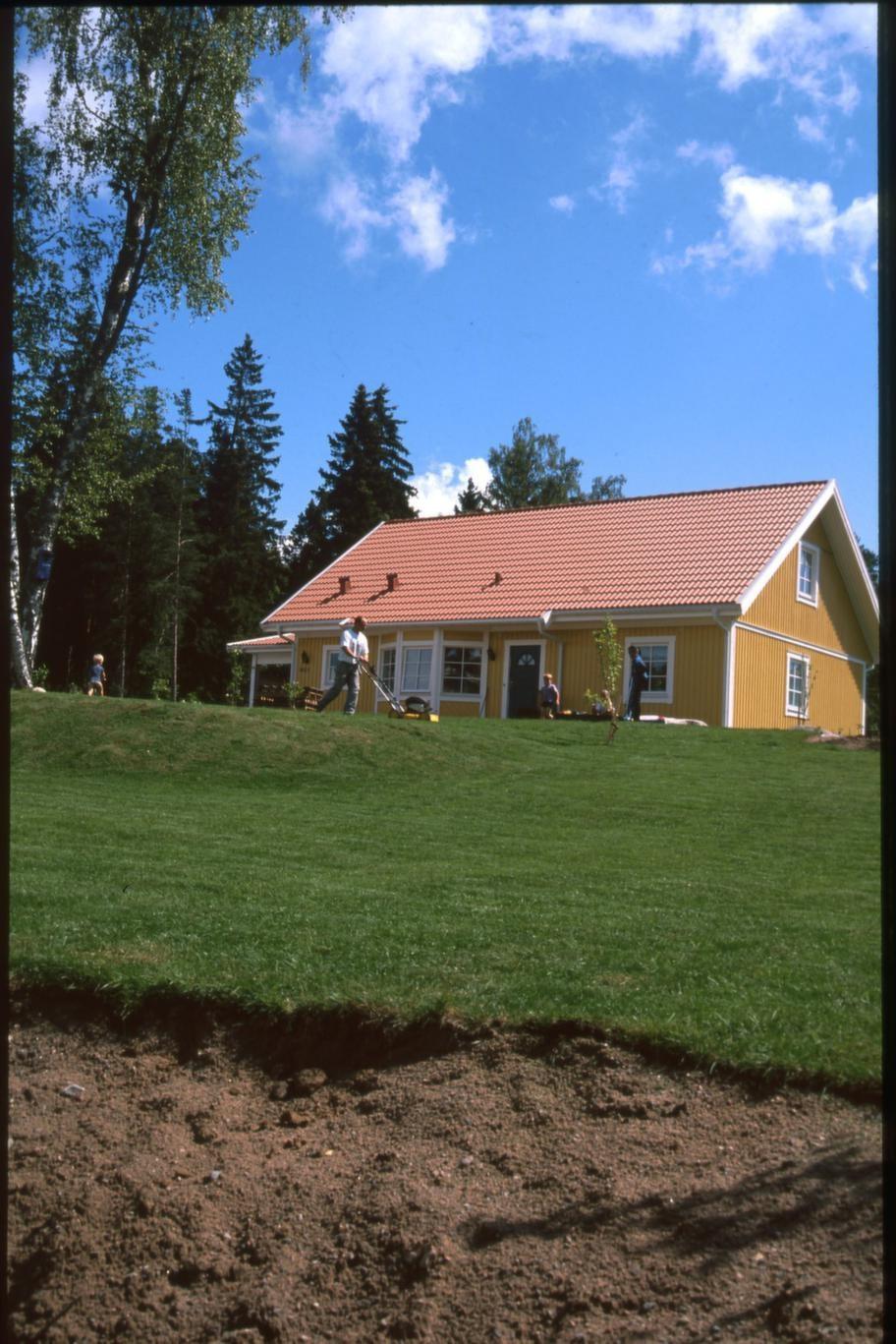Gödsling. <br>Två veckor efter första klippningen är det dags att gödsla gräsmattan, med antingen särskilt gräsmattegödsel eller med benmjöl. Vattna rejält i samband med gödslingen så att mattan inte får brännskador.