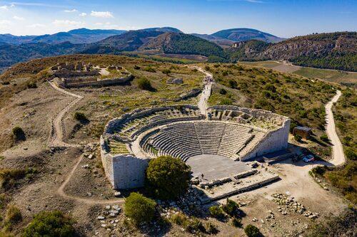 Tempelområdet i Segesta.