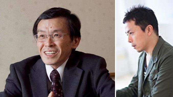 """Männen bakom tankemetoden och succéboken """"The Courage to be disliked"""". Ichiro Kishimi, 64, som är en japansk filosof, psykolog och översättare. Fumitake Koga, 47, som är skribent och författare och som under många år intervjuat Ichiro Kishimi"""