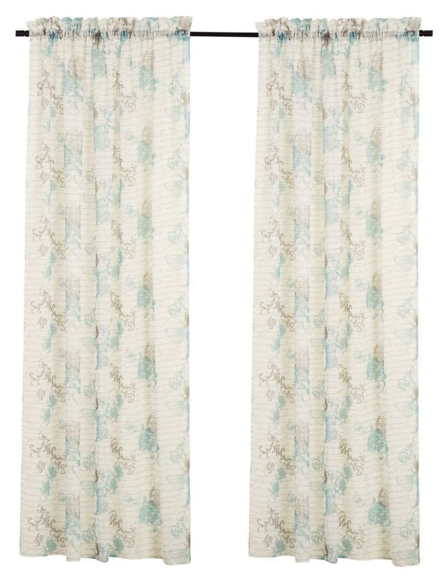 Mjuk färgskala. Mönstrade gardinlängder Disa, 137 × 220 centimeter, 179 kronor, Rusta.