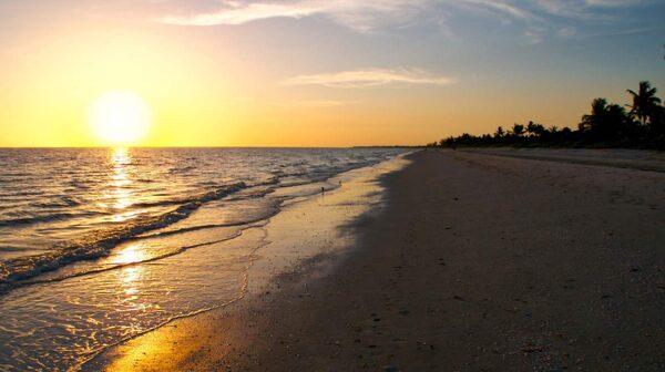 Bowmans Beach på Floridas västkust är en sagolik strand .