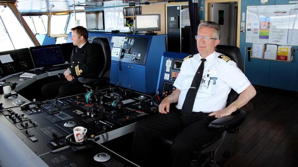 Kapten Jon Olaf Klodiussen på MS Polarlys.