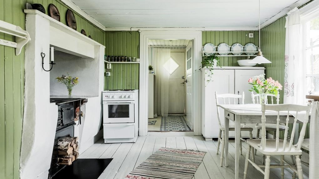 Köket är otroligt charmigt!