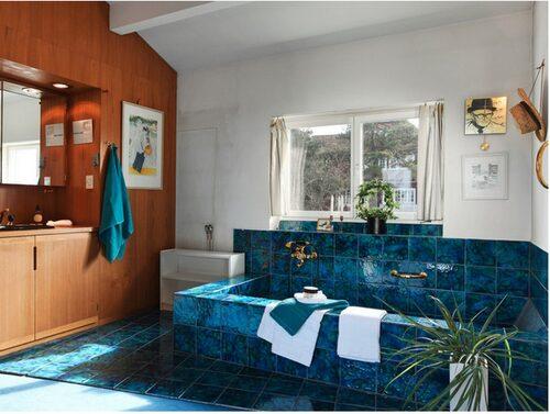 Turkosa badrummet och arbetsrummet var Povels favoriter när han skulle jobba.