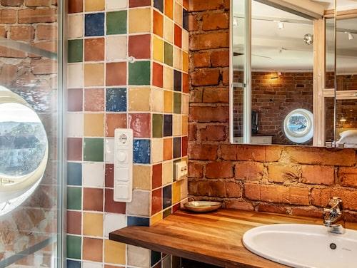 Trevlig utsikt från ena badrummet.