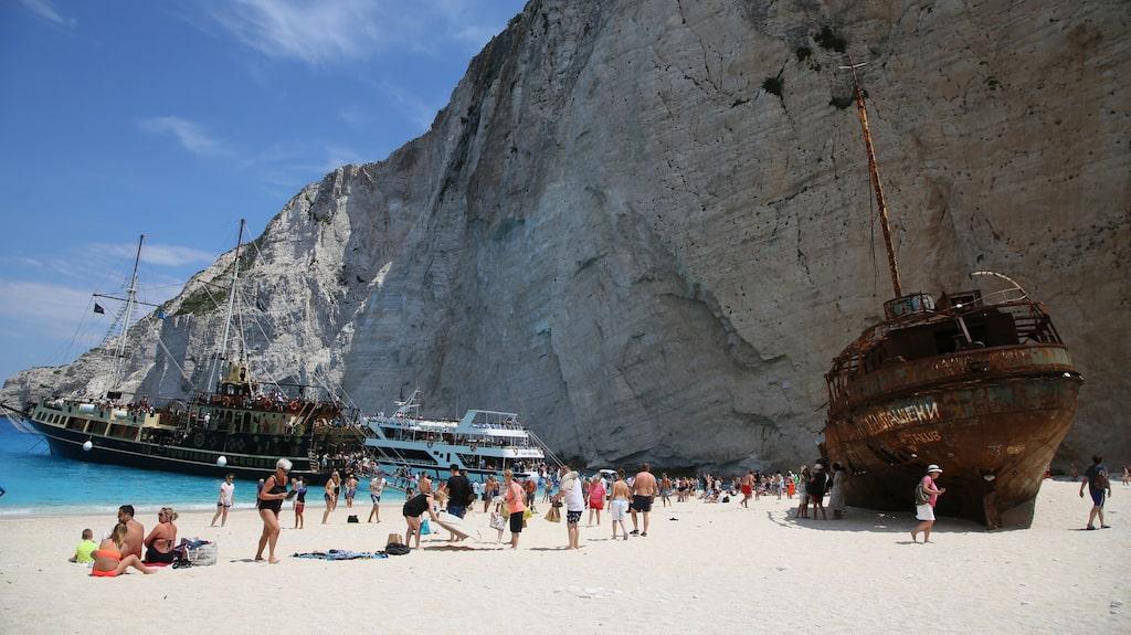 Shipwreck beachs vackra skeppsvrak.