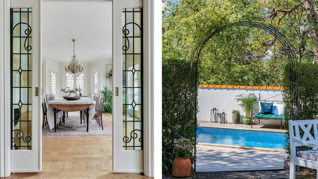 Villan från 1930 ger en medelhavskänsla och är nu ute till försäljning för 19 970 000 kronor.