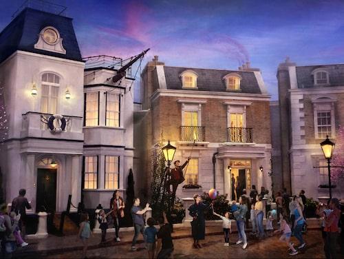 Kliv in i Mary Poppins värld på Epcot i Florida.