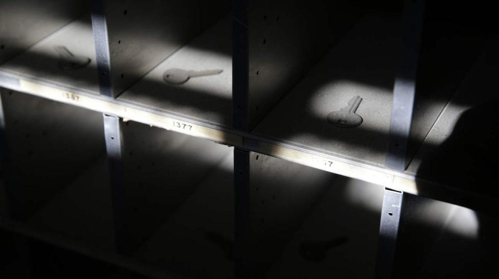 <p>Gamla nycklar ligger fortfarande i facken på sjukhusets postkontor i Vallejo, Kalifornien.</p>