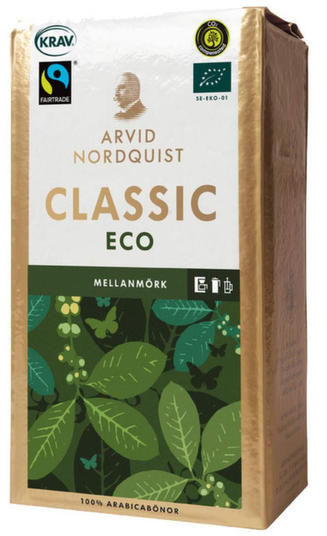 <strong>1 KAFFE.</strong><p>Att köpa ekologiskt kaffe är ett enkelt sätt att göra  stor nytta för lite pengar. På kaffeplantager används nämligen ett av  världens farligaste bekämpningsmedel som länge har varit förbjudet i  Sverige och EU.</p>