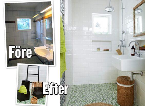 Innan renoveringen såg badrummet ut såhär, det var helt klart dags för en förändring.