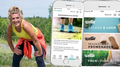 Erika Kits Gölevik är PT och träningscoach i hälsoappen Wellie.