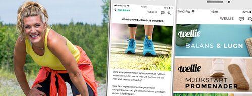 Erika Kits Gölevik är personlig tränare och träningscoach i hälsoappen Wellie.