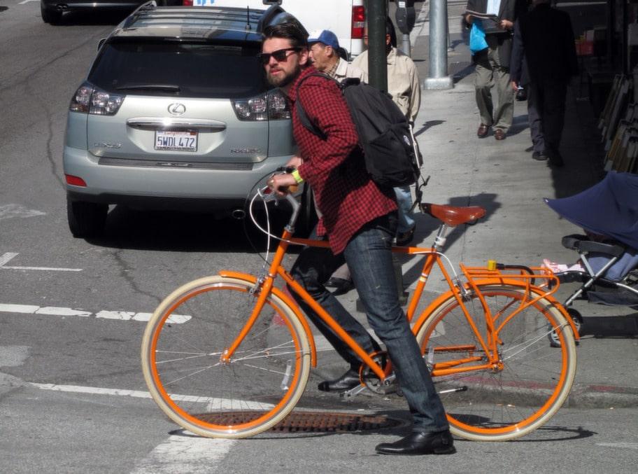 San Francisco-borna tar sig gärna runt på cykel även inne stan.