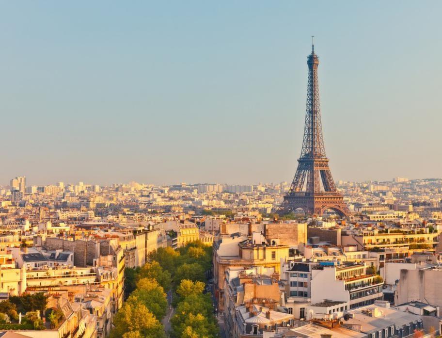 Vy över den franska huvudstaden Paris.