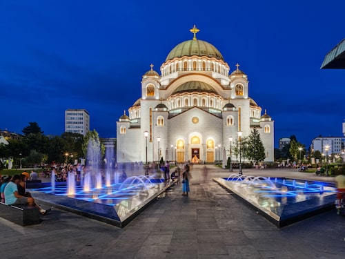 Sankt Savatemplet i Belgrad i Serbien.