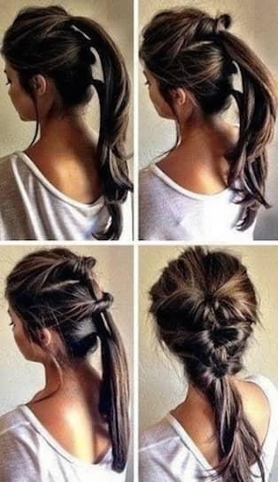 enkla frisyrer axellångt hår