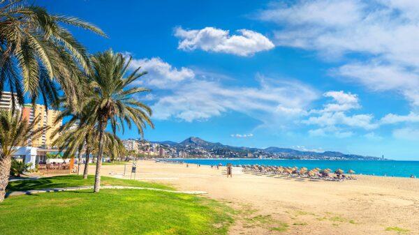 Malagueta, stranden mitt i Malaga.