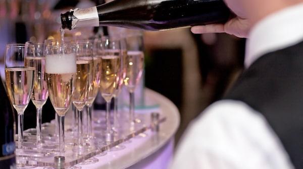 Londons coolaste champagnebar heter Vertigo 42.