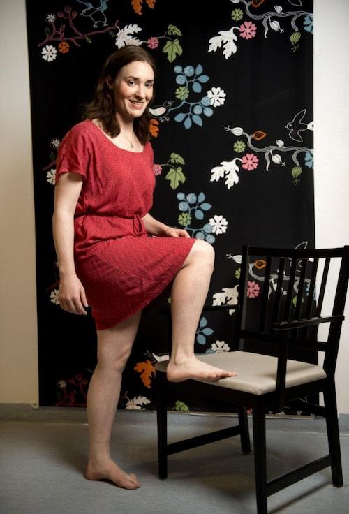 Maja Ahlberg, 25, är noga med sina fötter.
