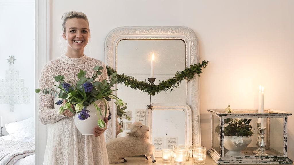 Amelie har alltid drömt om att bo i Linné, en stadsdel i Göteborg med mycket kvarterscharm. Nu gör hon det, och hon har skapat ett riktigt julhem.