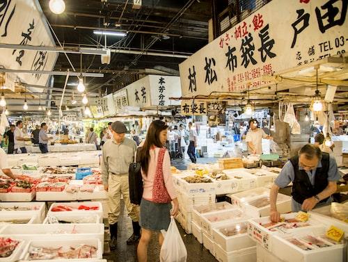 Tsukijis fiskmarknad.