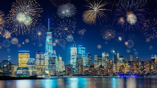I New York drar festprogrammet i gång redan vid sextiden på kvällen.