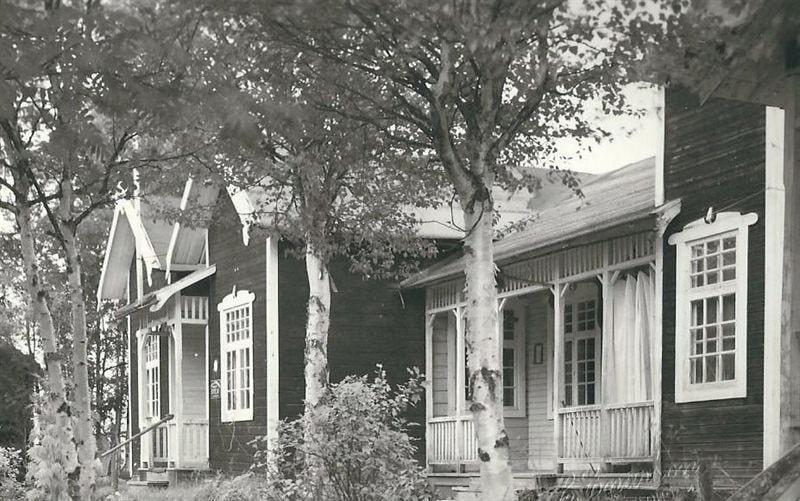 En gammal bild på gården från 1918.