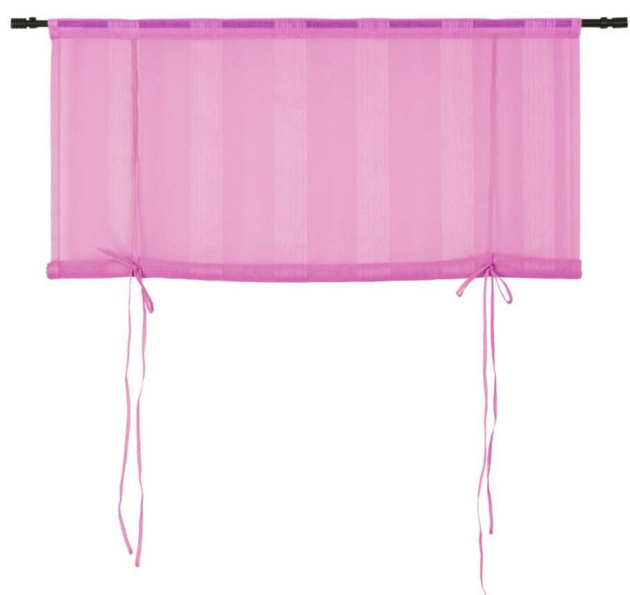 Enfärgad. Roll-up gardin i rosa, 120 × 135 centimeter, 79 kronor, Rusta.