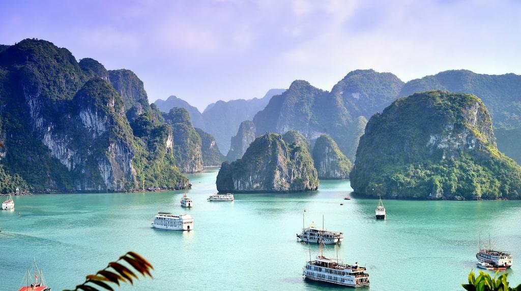 Magiska Halong Bay, Vietnam.
