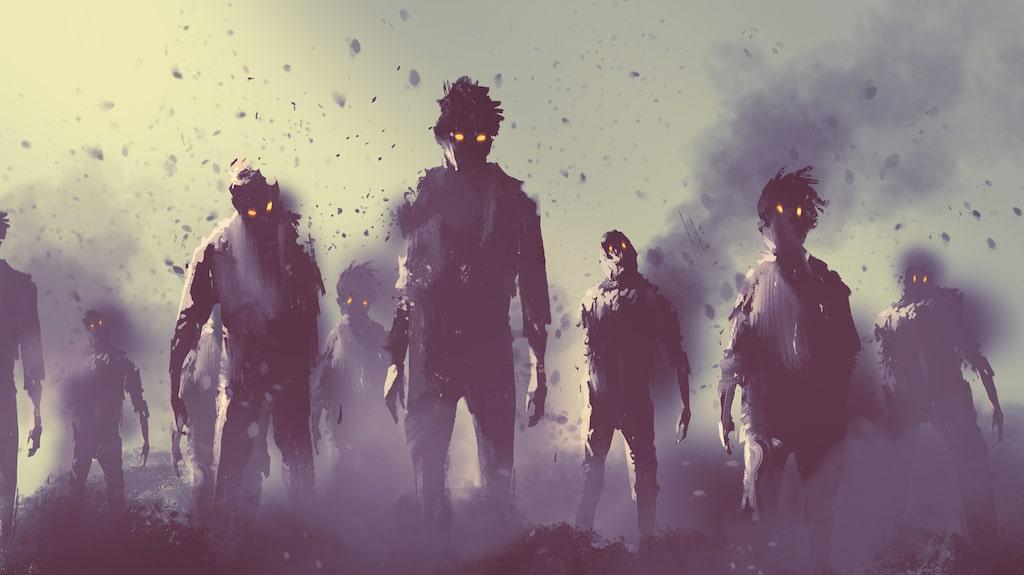 Strandsatta utlänningar på Kanarieöarna kallas zombieturister.