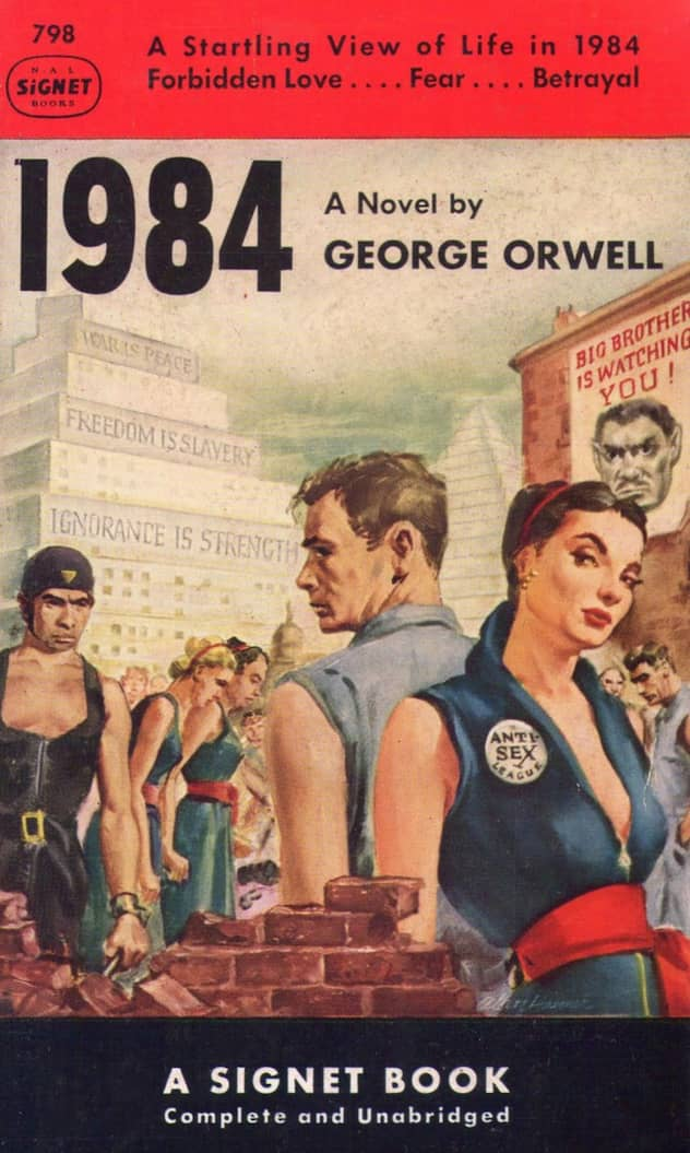 the political views in george orwells 1984 Exactly two centuries later, in his futuristic novel ''1984,'' the english political novelist george orwell gave a tragic illustration of what the world would be without the freedom to think.