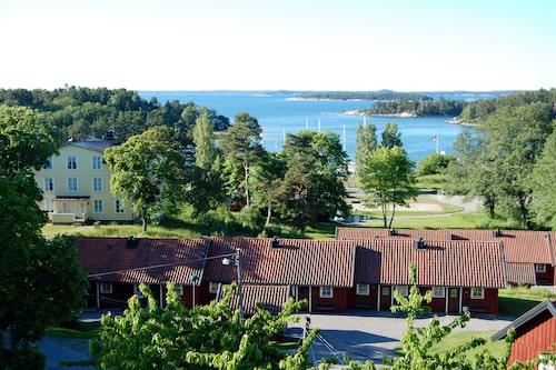 Utsikt från Utö vandrarhem.