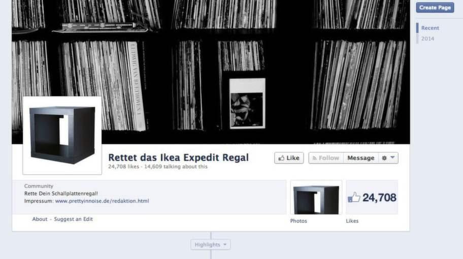 Facebokgruppen kämpar för att behålla hyllan Expedit i sortimentet.