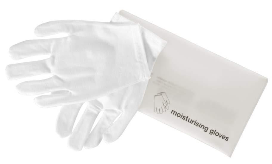 <strong>60 år</strong><br>Vantar som förhöjer den fuktgivande förmågan hos din handkräm. Använd gärna över natten. Smörj in dina händer och sätt på vantarna. Tillverkade i bomull och elastan.<br>45 kronor, ahlens.se
