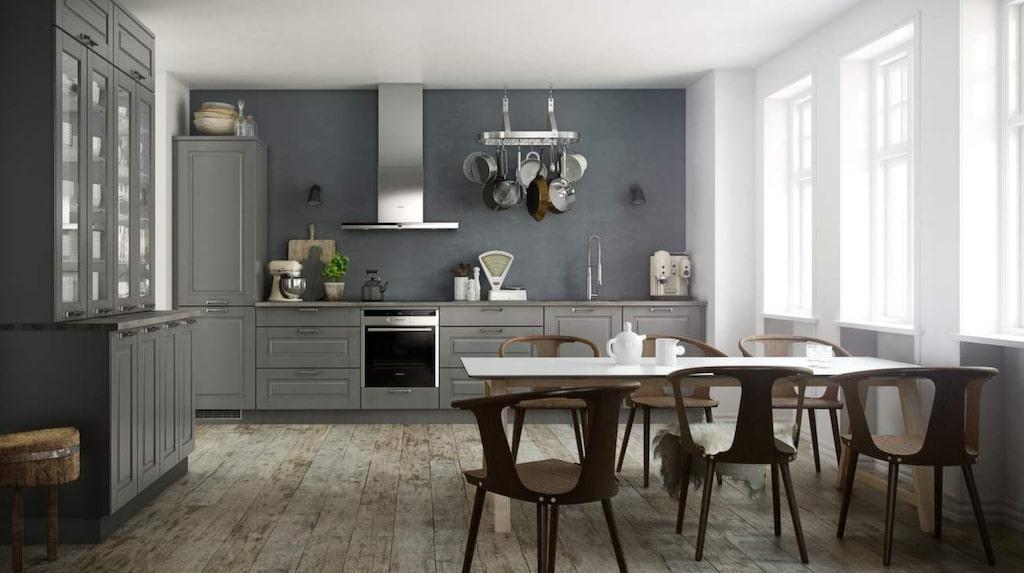 <p>Modernt lantliv med trendig gråskala. Med köksluckan Ponte vill Kvik förmedla en känsla av urbant lantliv. De grå luckorna matchas med fördel med handtag i blankt stål och vitvaror i rostfritt stål för den rätta känslan.</p>