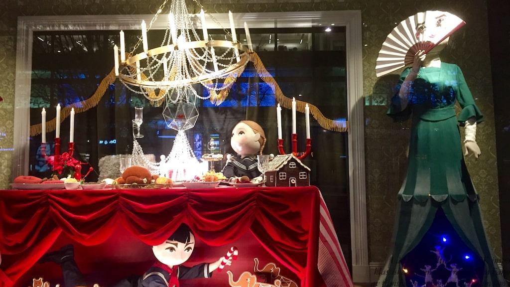 NK:s julskyltning avtäcktes på skyltsöndagen 19 november.