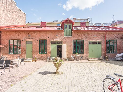 Gårdshus i Halmstad som även det tidigare varit stall.